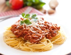 A picture of what the spaghetti sauce might have looked like